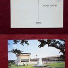 University of TEXAS TX Library Fountain Photo View Old VINTAGE POSTCARD PC