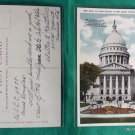 STATE CAPITOL MADISON WISCONSIN WI OLD VINTAGE POSTCARD