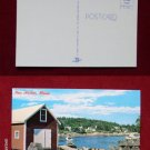 New Harbor ME Maine Back Cove Lobster Trap Fishing Shack VINTAGE Photo POSTCARD