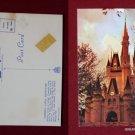 Walt Disney World Cinderella Castle @ Twilight 1972 Photo View VINTAGE POSTCARD