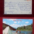 Camping Camp Fish Fry Stream Fishing Terrebonne CA View Old VINTAGE POSTCARD PC