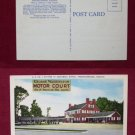 Fredericksburg VA Washington Motor Court Motel Linen View Old VINTAGE POSTCARD