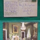 1908 STAMP GREEN ROOM WHITE HOUSE OLD VINTAGE POSTCARD