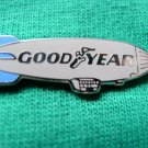 SILVER GOODYEAR TIRES  BLIMP ADVERTING SHIRT LAPEL PIN