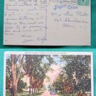 GREETINGS FROM PITTSFIELD MASS MA VINTAGE 1943 POSTCARD