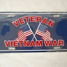 AMERICAN FLAG VIETNAM WAR VETERAN VET LICENSE PLATE