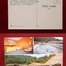 Cherokee NC Carriage Inn Motel Swimming Pool Photo View Old VINTAGE POSTCARD PC