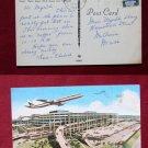Tampa Jetport Airport 1973 Airplane View Old VINTAGE POSTCARD PC