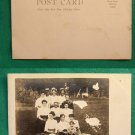 EARLY VINTAGE FAMILY PORTRAIT RPPC REAL PHOTO POSTCARD