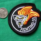 FIGHTING 33 TARSIERS VF33 USN NAVY FIGHTER COAT PATCH
