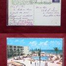 Miami Balmoral Hotel Swimming Pool Photo 1958 View Old VINTAGE POSTCARD PC
