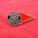 RED WING WESTERN MARYLAND FAST FRIGHT LINE RAILROAD PIN