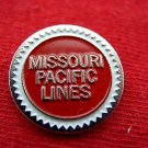 MISSOURI PACIFIC LINES ROUND BUTTON RAILROAD TRAIN PIN