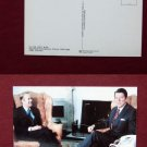 President Reagan & Jean Francois Poncet Photo View Old VINTAGE POSTCARD PC