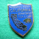CALIFORNIA FISH & GAME DEPT MINI BADGE SHIRT LAPEL PIN