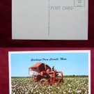 Mechanical Cotton Picker Tractor Corinth MS Photo View Old VINTAGE POSTCARD PC