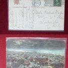 Early Atlantic City @ Night Old School 1909 Stamp NJ New Jeresy VINTAGE POSTCARD