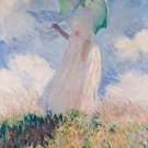 Claude Monet Woman with Parasol Turned to the Left Poster 20X30 Art Print