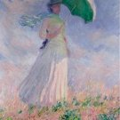 Claude Monet Woman with a Parasol Turned to the Right Poster 20X30 Art Print