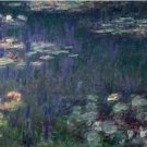 Claude Monet Waterlilies Green Reflections Poster 20X30 Art Print