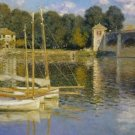 Claude Monet The Argenteuil Bridge Poster 20X30 Art Print
