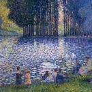 Henri Edmond Cross The Lake of the Forest of Boulogne Poster 20X30 Art Print