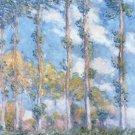 Claude Monet Poplars Poster 20X30 Art Print