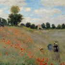 Claude Monet Poppy Field Poster 20X30 Art Print