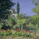 Claude Monet Flowering Garden at Sainte Adresse Poster 20X30 Art Print