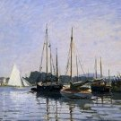 Claude Monet Recreational Boats Poster 20X30 Art Print