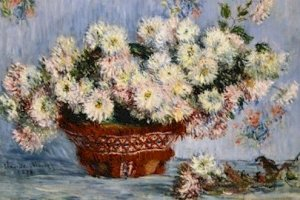 Claude Monet Chrysanthemes Poster 20X30 Art Print
