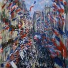 Claude Monet The Rue Montorgueil in Paris Celebration of June 30 1878 Poster 20X30 Art Print