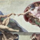 The Creation of Adam Michelangelo Poster 20X30 Art Print