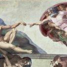 The Creation of Adam Michelangelo Poster 20X30 Art Print