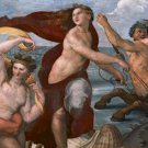 Detail Mythological Figures Triumph of Galatea Poster 20X30 Art Print