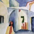 A Glance Down an Alley August Macke Poster 20X30 Art Print