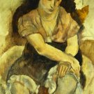 Seated Girl Jules Pascin Poster 20X30 Art Print
