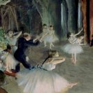 Rehearsal of the Ballet on the Stage Edgar Degas Poster 20X30 Art Print