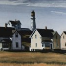 Lighthouse Hill Cape Elizabeth ME Edward Hopper Poster 20X30 Art Print