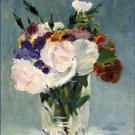 Flowers in a Crystal Vase Edouard Manet Poster 20X30 Art Print