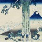 Mishima Pass in Kai Province Hokusai Poster 20X30 Art Print