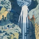 Amida Waterfall on the Kiso Highway Hokusai Poster 20X30 Art Print
