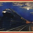 20X30 Art Deco Poster Pennsylvania Railroad Leaders of Fleet of Modernism