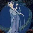 20X30 Art Deco Poster Lady With A Dragon