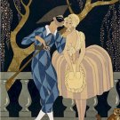 16X20 Art Deco Poster Harlequin's Kiss