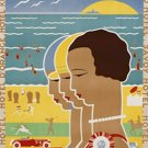 20X30 Art Deco Travel Poster Scheveningen Hague On Sea