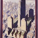 20X30 Art Deco Poster Rockefeller Center New York Central Lines