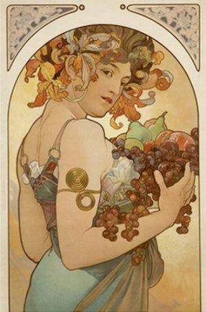 20X30 Art Deco Poster Fruit Alphonse Mucha