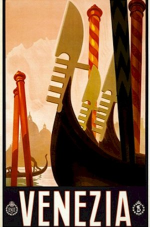 20X30 Art Deco Travel Poster Venezia Venice