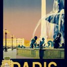 20X30 Art Deco Travel Poster Paris